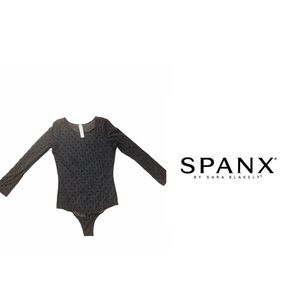 SPANX Sheer Polka Dot Thong Body Suit